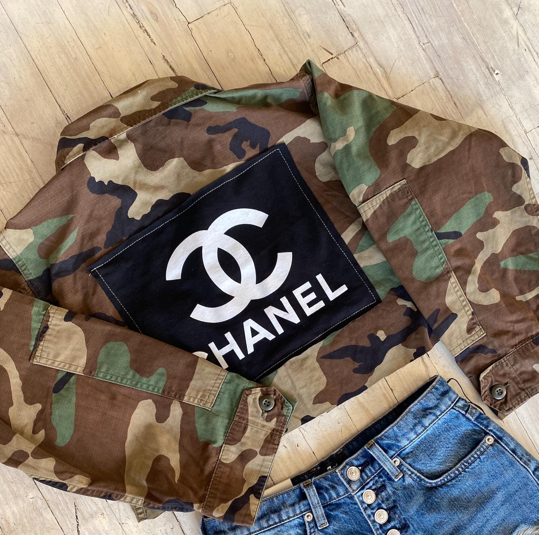 Cropped Camo Designer Jacket