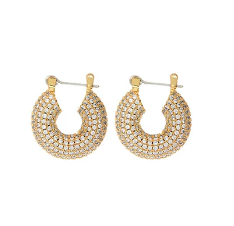 Pave Mini Donut Hoops