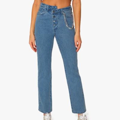 Crossover Straight Leg Jean