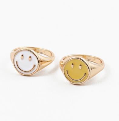 Epoxy Smiley Ring