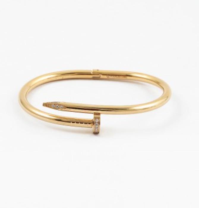 Cubic Zirconia Nail Bracelet
