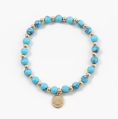 Beaded Turqouise Smiley Bracelet