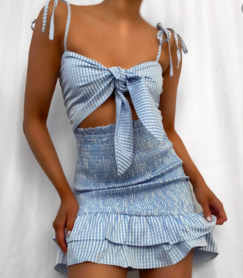 Gingham Smocked Dress