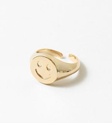 Gold Smile Ring