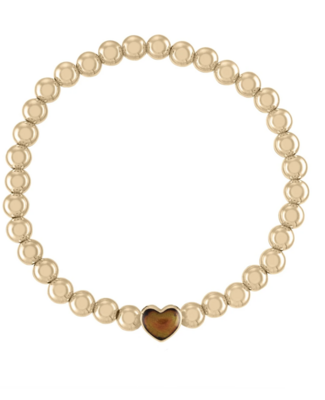 Moody 5MM Color Changing Heart Ball Bracelet