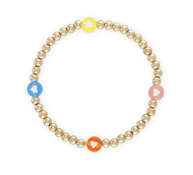 Summer Heartfelt Ball Bracelet