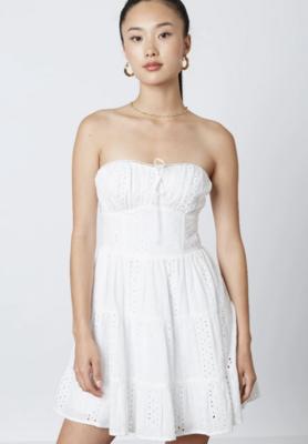 Eyelet Tube Dress