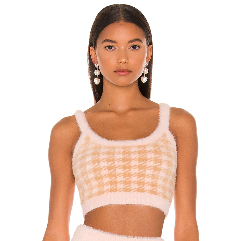 Cher Crop Sweater Tank