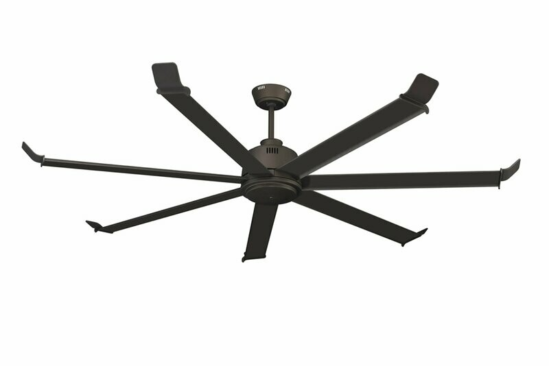 "Arctic Chill 7-Blade 80"" Ceiling Fan Oil Rubbed Bronze with 5 Speed Remote"