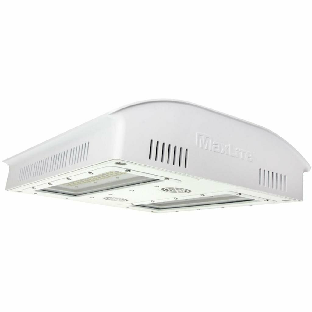 MaxLite PhotonMax Green House LED Fixture, 600 Watts, Broad PAR with Heavy 660NM, White Finish, 347-480V