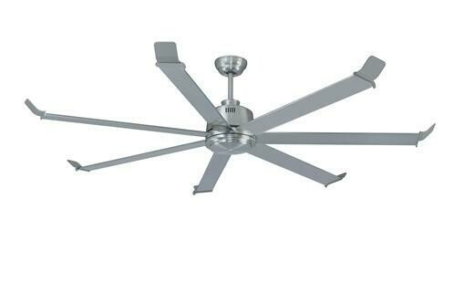 "Arctic Chill 7-Blade 80"" Ceiling Fan Brushed Nickel with 5 Speed Remote"