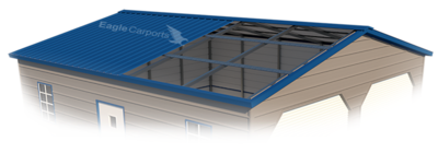 Vertical Roof Style Metal Garages