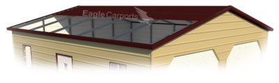 Boxed Eave Style Metal Garages