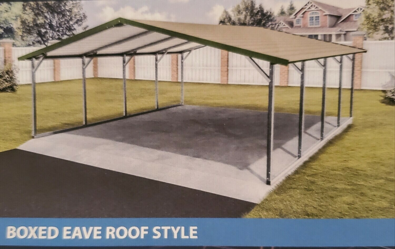 Boxed Eave Style Metal Carport by Eagle Carports