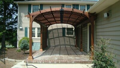 Cozy Arch Wood Pergola