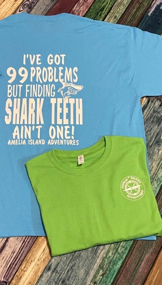 Shark Tooth Hunting Long Sleeve T-Shirt