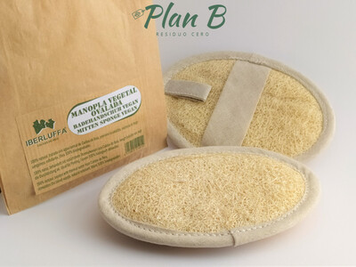 Manopla Vegetal Exfoliante - Esponja de baño