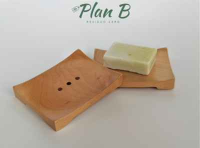 Jabonera de Madera de Bambú - Rectangular
