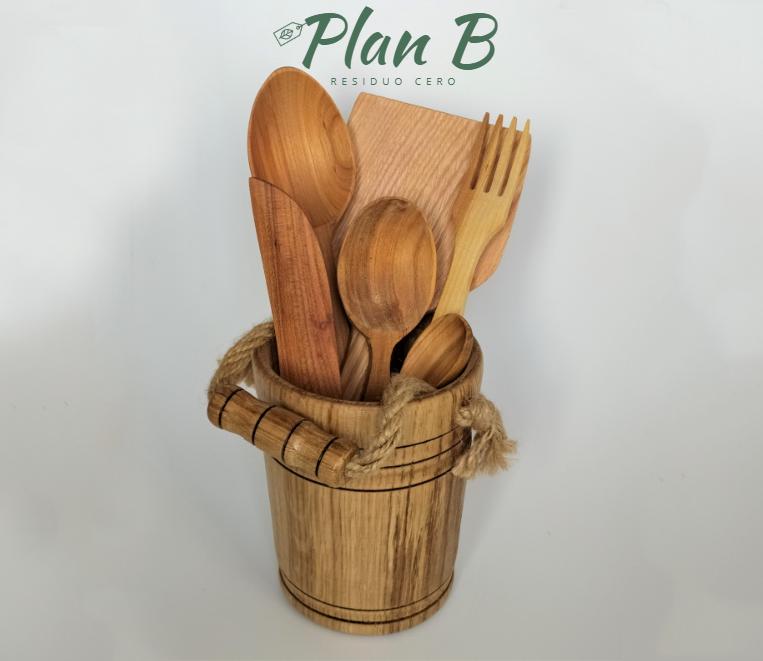 Juego cubiertos de cocina - 100℅ madera