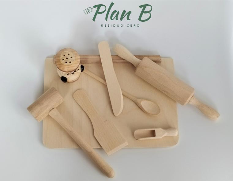 Pequeño cocinero - Juguete 100℅ Madera Natural