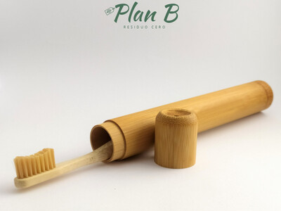 Estuche de bambú para cepillo de dientes - 100℅ biodegradable