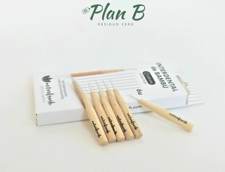 Cepillo Interdental de Bambú Extrafino