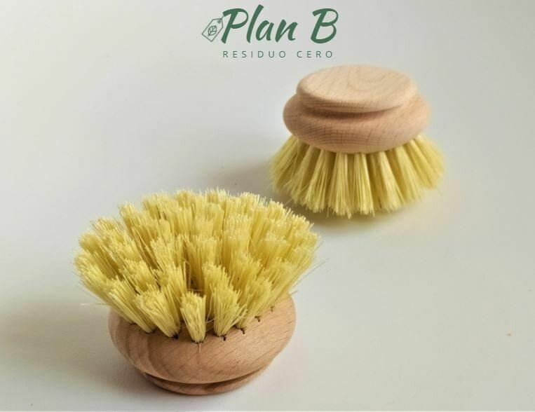 Wooden Scrub Brush Replacement - Stiff Bristles