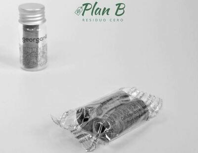 Recambios Hilo Dental Biodegradable Menta y Carbón - 2 x 50mts