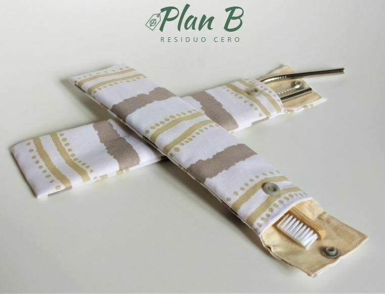 Brush Holder or Straw Holder - Organic Cotton