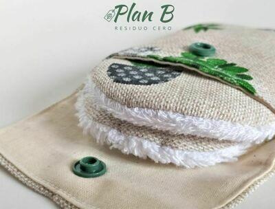 Discos desmaquillantes reutilizables - 100℅ algodón orgánico