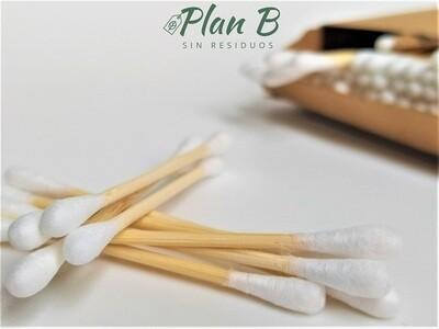 Bastoncillos Biodegradables de Bambú y Algodón Orgánico