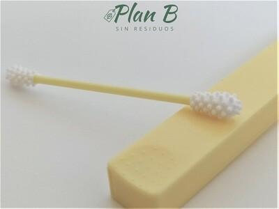 Bastoncillos Reutilizables Silicona - Amarillo Pastel