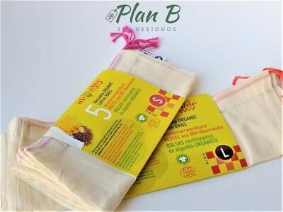 Bolsas de Tela para Compras a Granel - Talla L (frutas y verduras)
