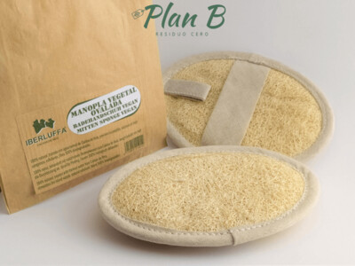 Manopla Vegetal de Luffa Exfoliante - Esponja de baño