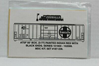 50/' PS-1 Box Car Decals Oddballs #187-299 KCS Kansas City Southern