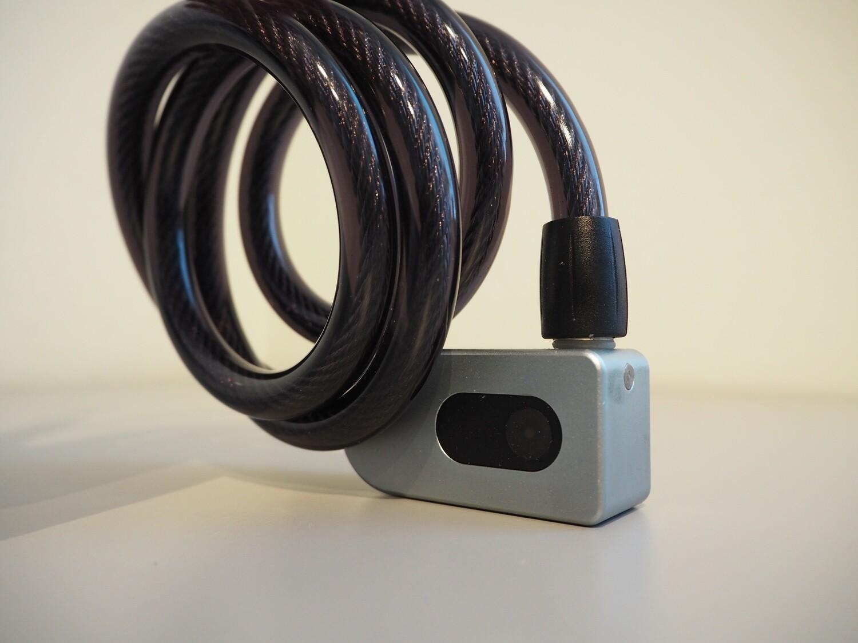 Bluetooth pyöränlukko 1m teräsvaijerilla- Langaton!