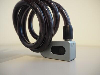Bluetooth älylukko 1m teräsvaijerilla