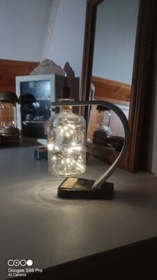 """LAMPE SUSPENSION BOIS avec BOUTEILLE AMBIANCE """"STARY"""""""