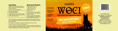 Zaniya Woci Chicken Topper w/Taurine 12oz Jar