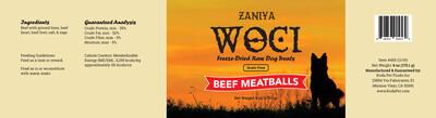 Zaniya Woci Beef Meatball Treat 6oz Jar