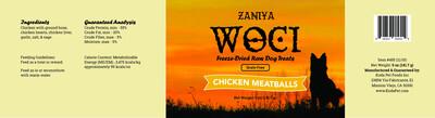 Zaniya Woci Chicken Meatball Treat 5oz Jar