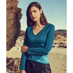 Promodoro Damen Langarm T-Shirt V-Aussschnit #X.O.