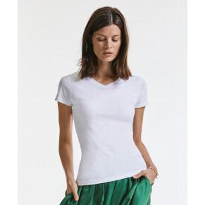 Russell Damen Bio V-Ausschnitt T-Shirt #103F