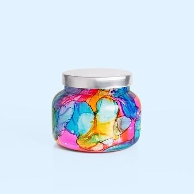 19 oz Volcano Rainbow Watercolor Jar Candle