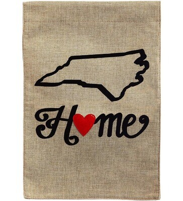 NC State of my Heart Garden Flag