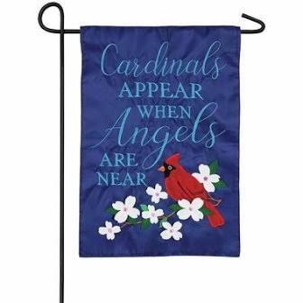 Cardinals Appear Garden Applique Flag