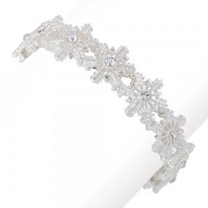 Silver Snowflake Bracelet
