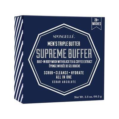Spongelle Mini Men's Supreme Buffer Cedar