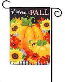 Welcome Fall Textured Garden Flag