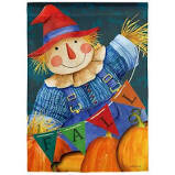 Fall Fella Scarecrow Garden Flag